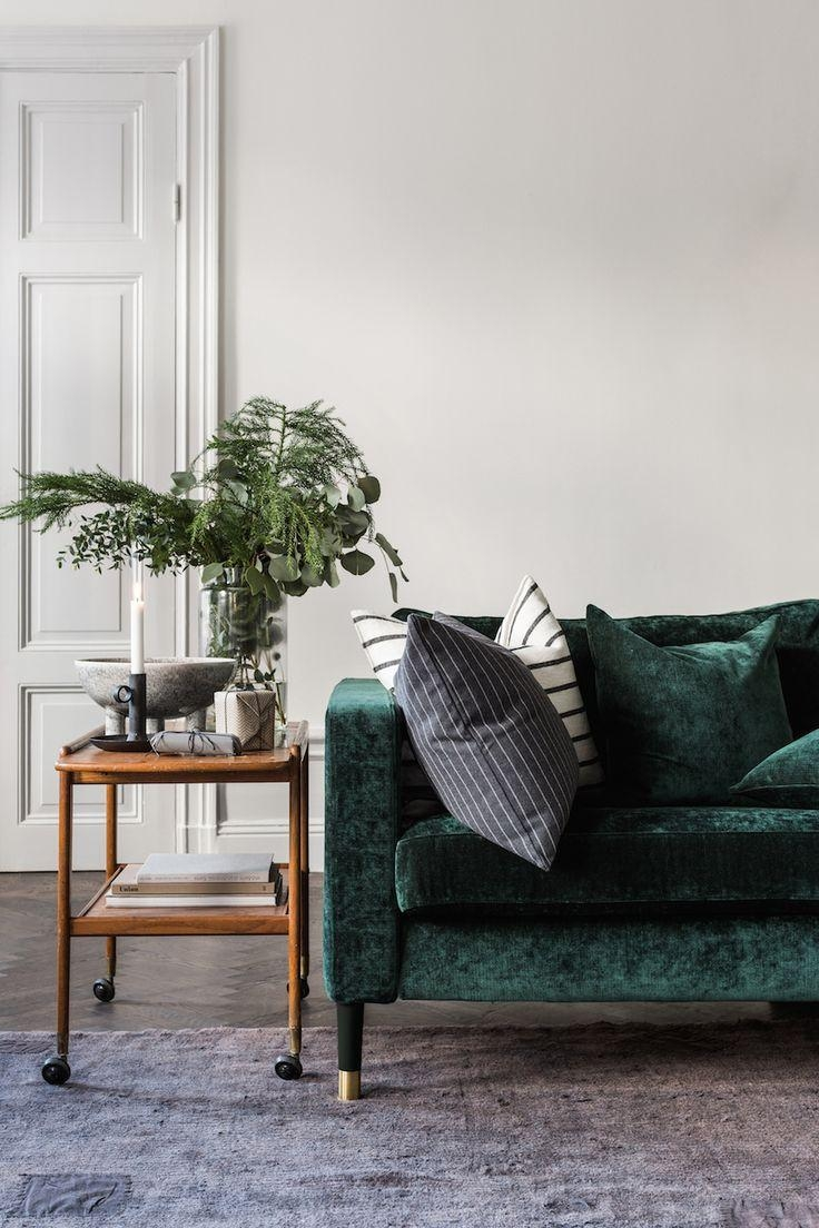 Best 10+ Green Couch Decor Ideas On Pinterest | Green Sofa, Velvet Within Green Sofa Chairs (View 19 of 20)
