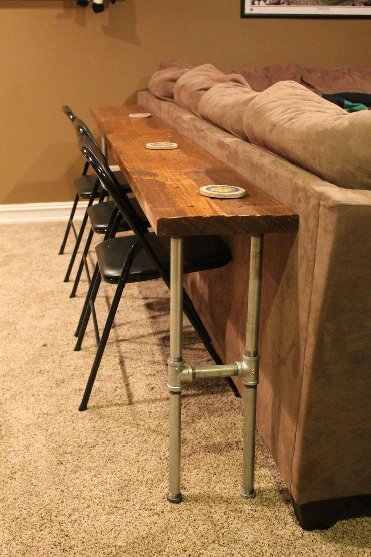 Best 20+ Bar Behind Couch Ideas On Pinterest | Table Behind Couch Within Sofa Table With Chairs (Image 2 of 20)