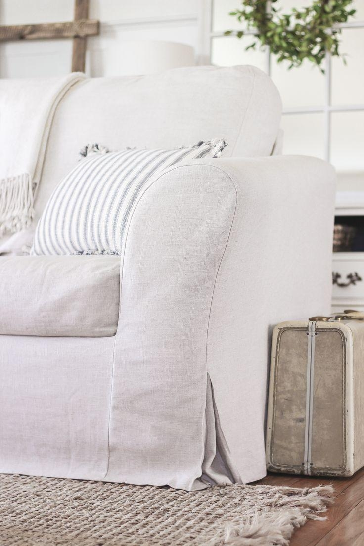 Best 20+ Couch Slip Covers Ideas On Pinterest | Slipcovers, Sofa Throughout Shabby Chic Sofa Slipcovers (Image 2 of 20)