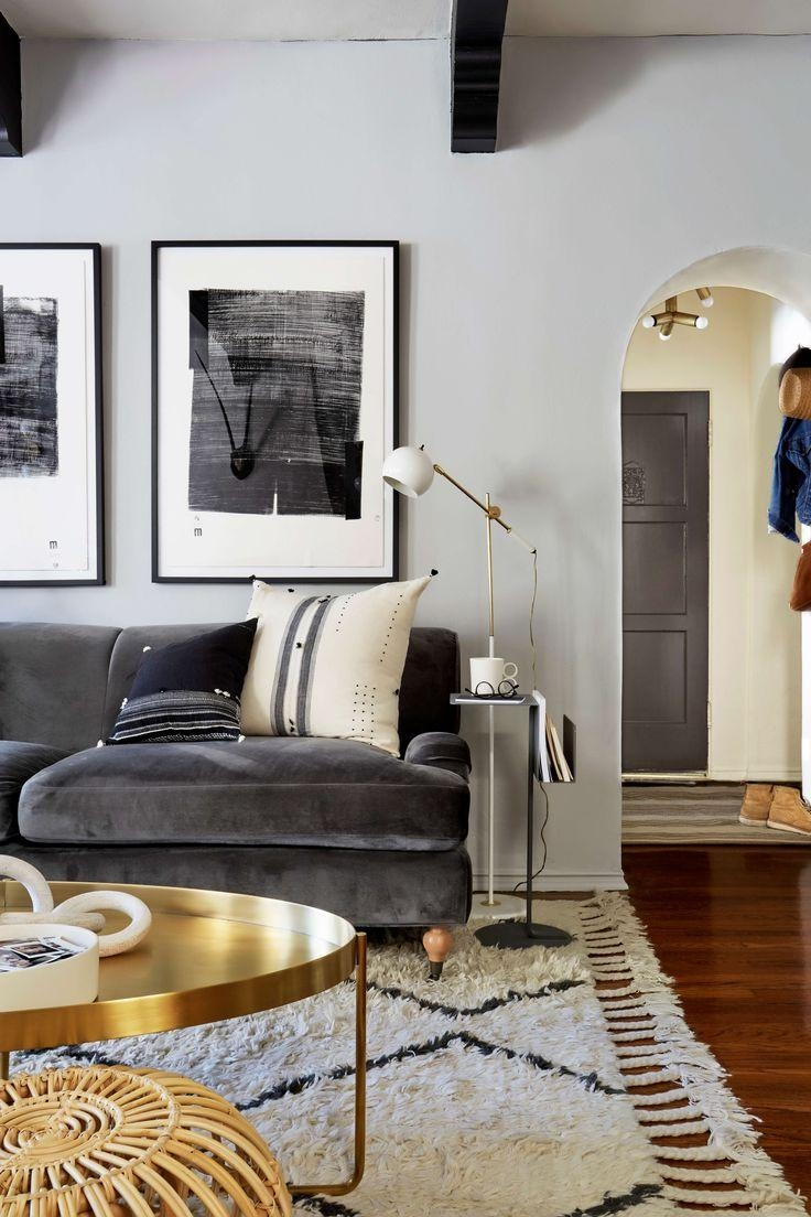 Best 20+ Dark Gray Sofa Ideas On Pinterest | Gray Couch Decor With Gray Sofas For Living Room (View 12 of 20)