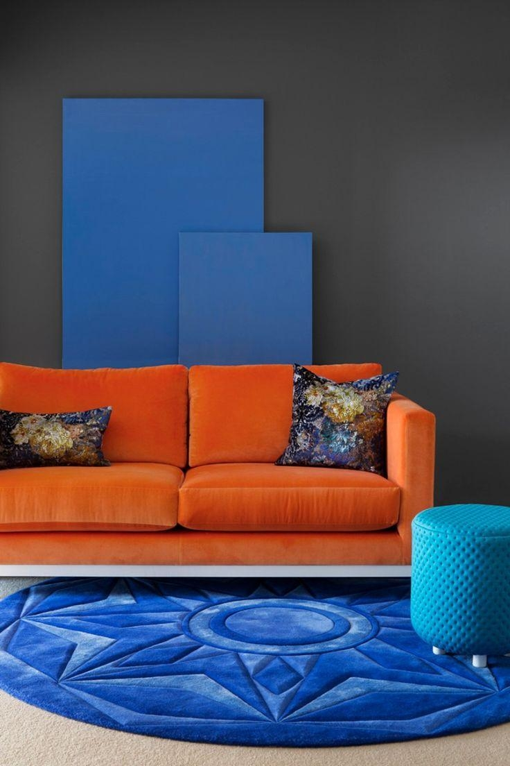 Best 20+ Orange Sofa Ideas On Pinterest | Orange Sofa Design Intended For Colorful Sofas And Chairs (Image 3 of 20)