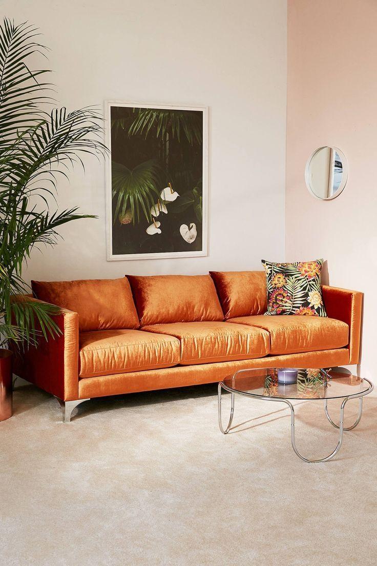 Best 20+ Orange Sofa Ideas On Pinterest | Orange Sofa Design Throughout Burnt Orange Sofas (Image 1 of 20)