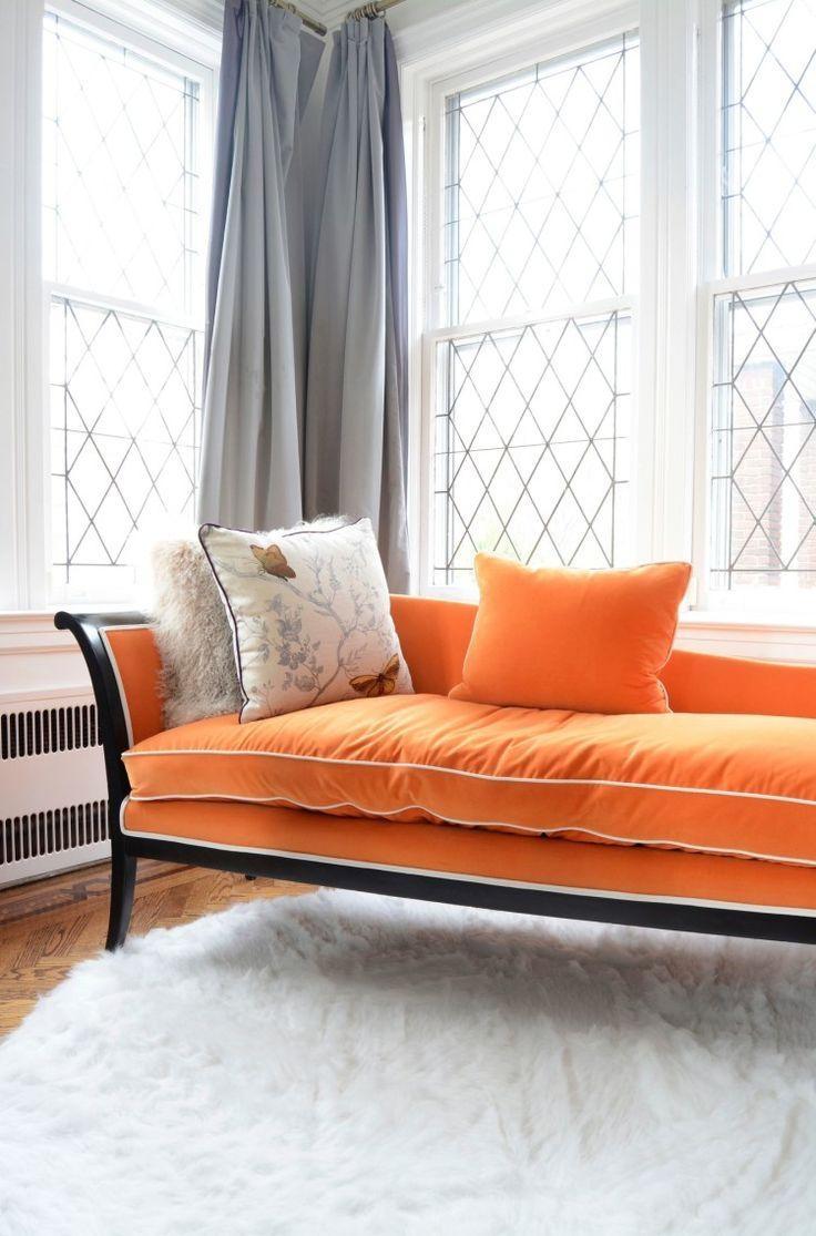 Best 20+ Orange Sofa Ideas On Pinterest | Orange Sofa Design With Orange Sofa Chairs (View 7 of 20)