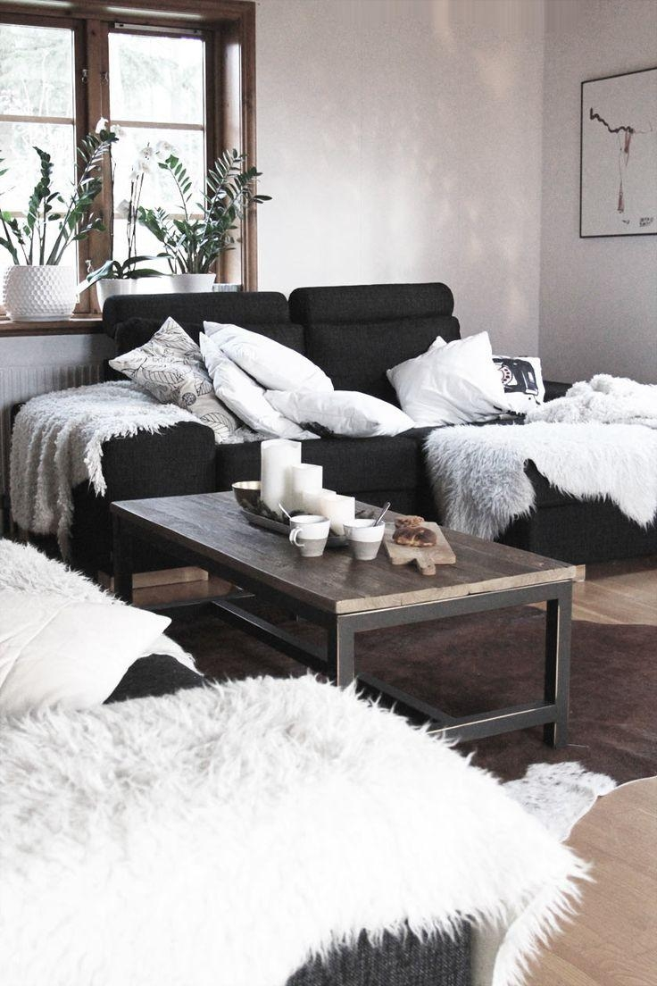 Best 25+ Black Couches Ideas On Pinterest | Black Couch Decor With Black Sofas Decors (Image 4 of 20)
