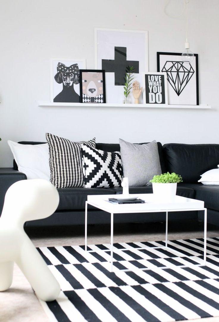 Best 25+ Black Sofa Decor Ideas On Pinterest | Black Sofa, Black Within Black Sofas Decors (View 6 of 20)