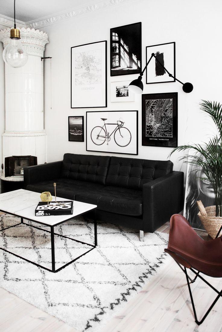 Best 25+ Black Sofa Decor Ideas On Pinterest | Black Sofa, Black Within Black Sofas Decors (View 2 of 20)