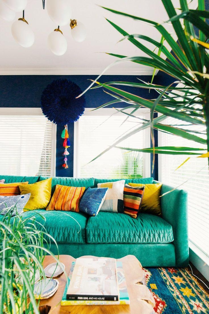 Best 25+ Colorful Couch Ideas On Pinterest | Green Living Room Within Colorful Sofas And Chairs (View 20 of 20)