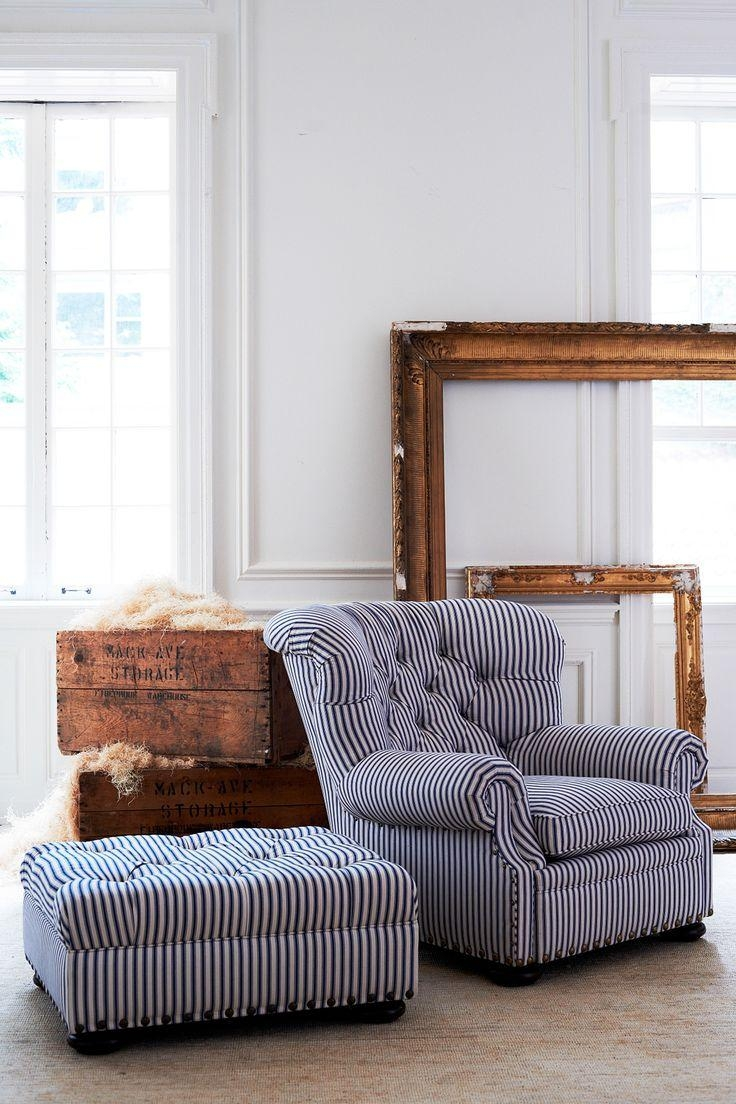 Best 25+ Fabric Ottoman Ideas On Pinterest | Family Room With Regarding Striped Sofas And Chairs (View 13 of 20)