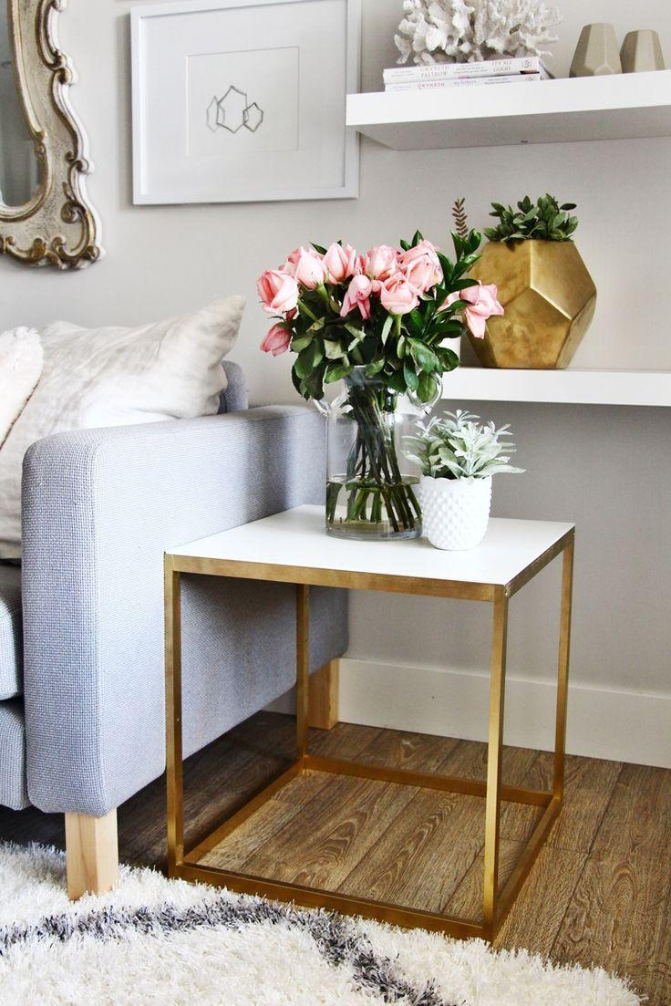 Best 25+ Gold Side Tables Ideas On Pinterest | Gold Accents, Gold Inside Gold Sofa Tables (View 11 of 20)
