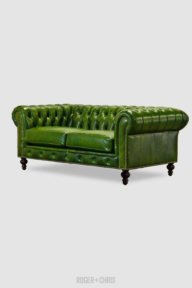Best 25+ Green Leather Sofa Ideas On Pinterest | Green Leather Within Green Sofas (Image 2 of 20)