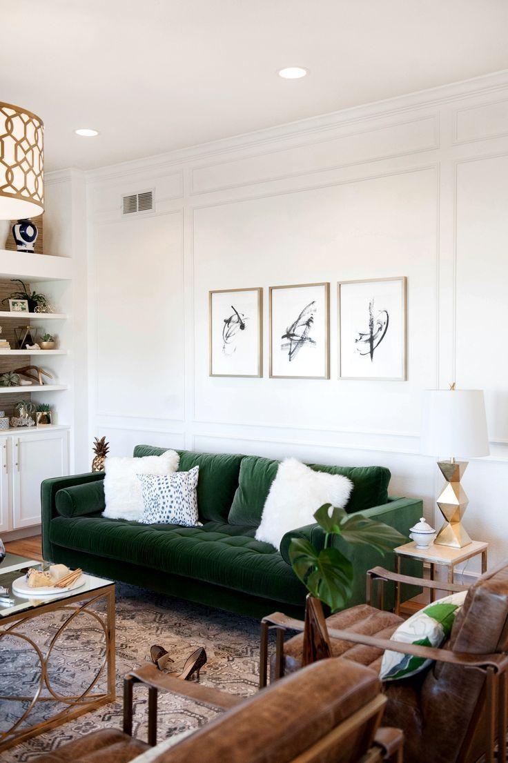 20 best ideas emerald green sofas sofa ideas for Living room ideas pinterest