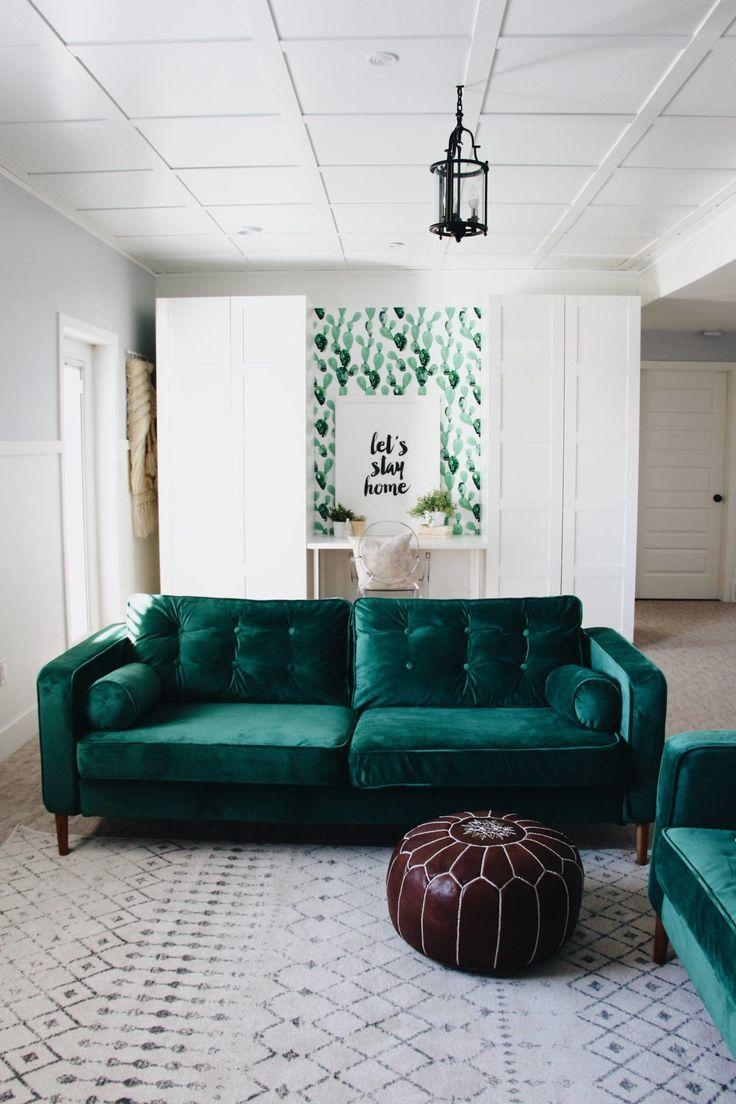 Best 25+ Green Sofa Ideas On Pinterest | Green Living Room Sofas For Green Sofas (Image 3 of 20)