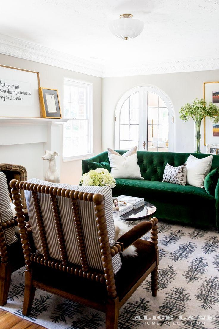 Best 25+ Green Sofa Ideas On Pinterest | Green Living Room Sofas In Green Sofa Chairs (Image 5 of 20)