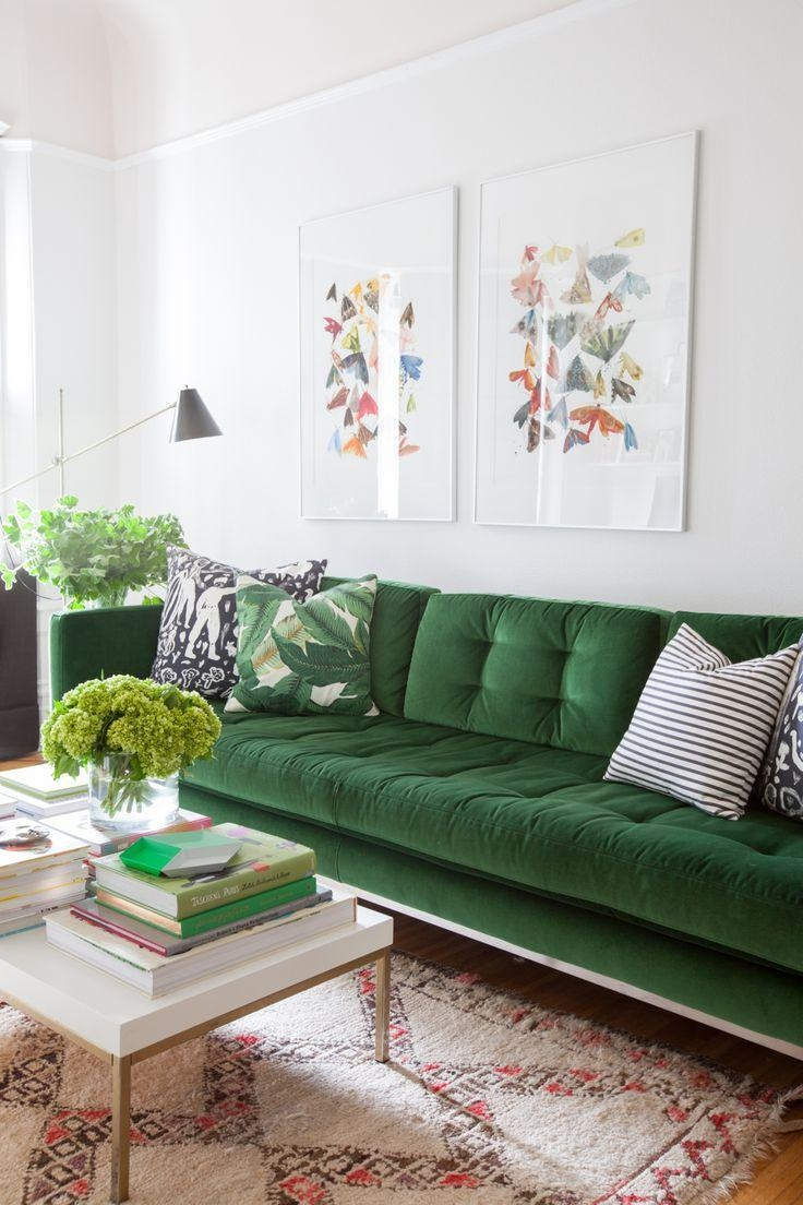 Best 25+ Green Sofa Ideas On Pinterest | Green Living Room Sofas Intended For Green Sofa Chairs (Image 6 of 20)