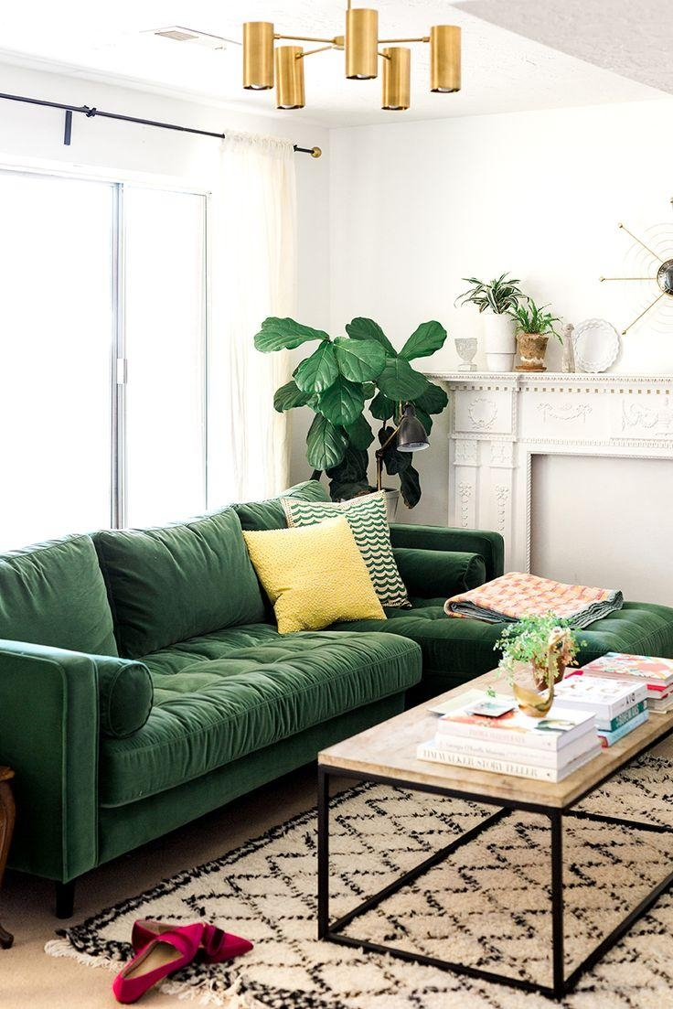 Living Room Design Green: 20 Best Ideas Emerald Green Sofas