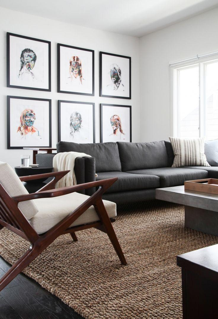 Featured Photo of Living Room With Grey Sofas