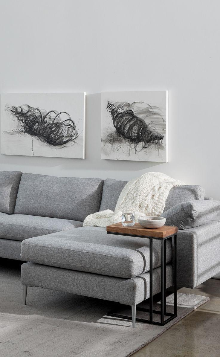 Best 25+ Grey Sofa Decor Ideas On Pinterest | Grey Sofas, Gray Intended For Living Room With Grey Sofas (Image 3 of 20)