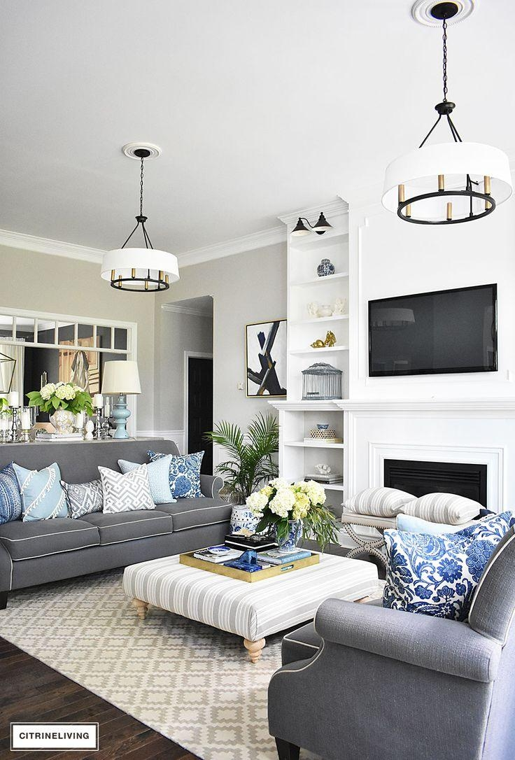 Best 25+ Grey Sofa Set Ideas On Pinterest | Living Room Accents Regarding Living Room With Grey Sofas (View 5 of 20)
