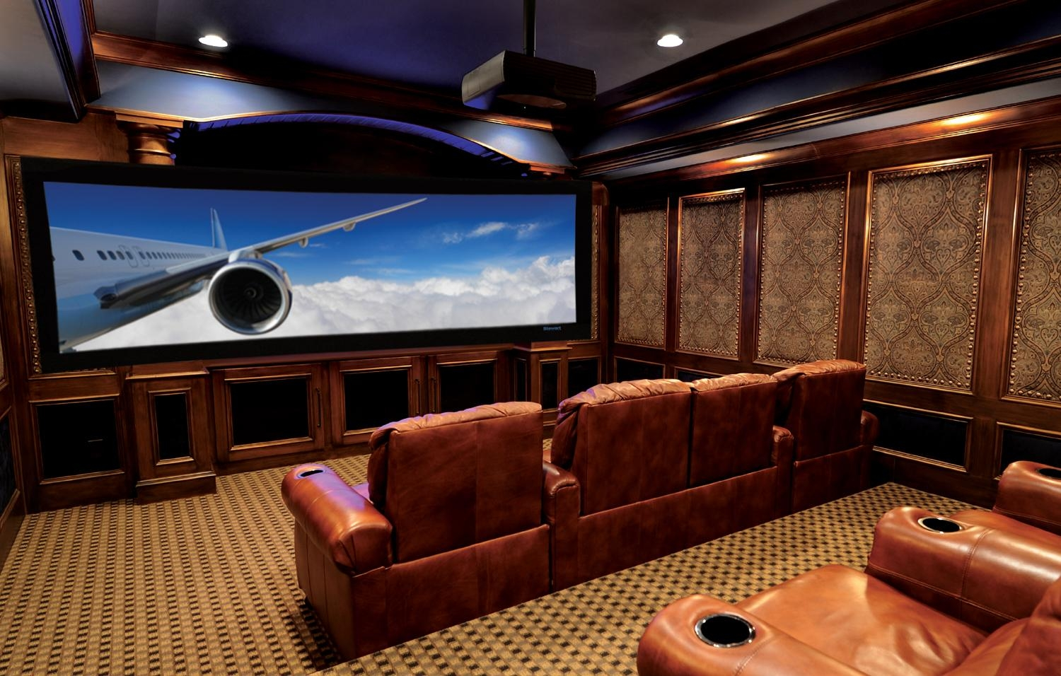 Best 25+ Home Theater Screens Ideas On Pinterest | Home Theater Intended For Theater Room Sofas (Image 1 of 20)