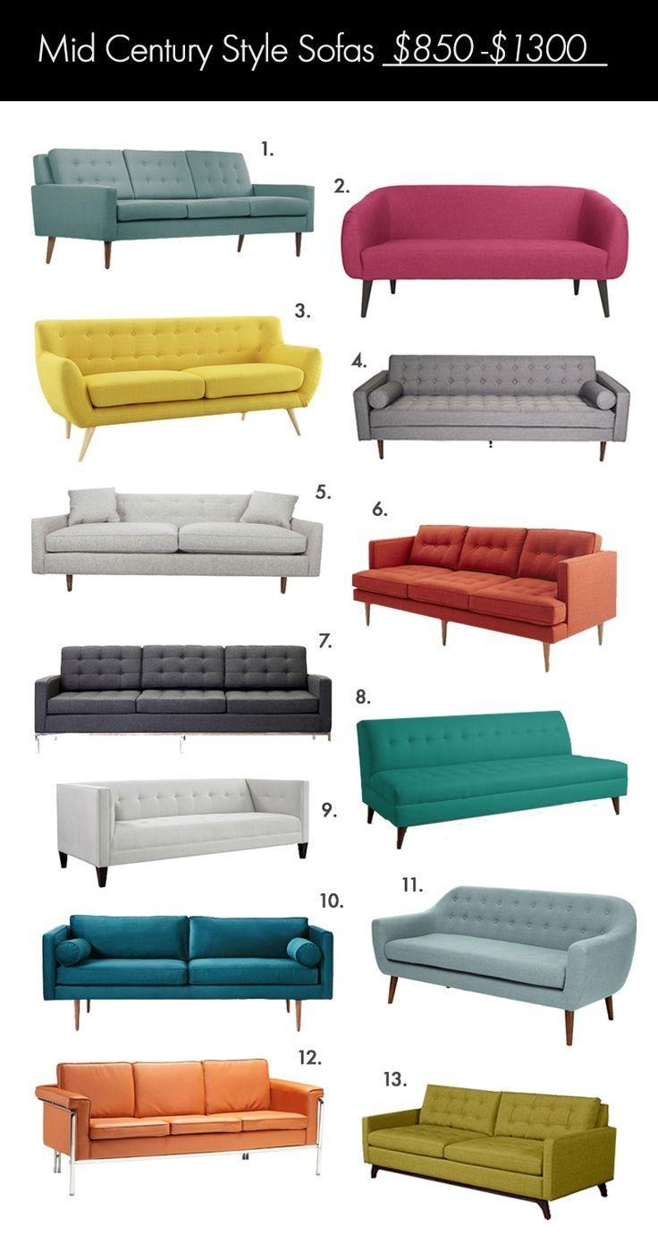 Best 25+ Mid Century Sofa Ideas On Pinterest | Mid Century Modern Within Mid Range Sofas (Image 5 of 20)