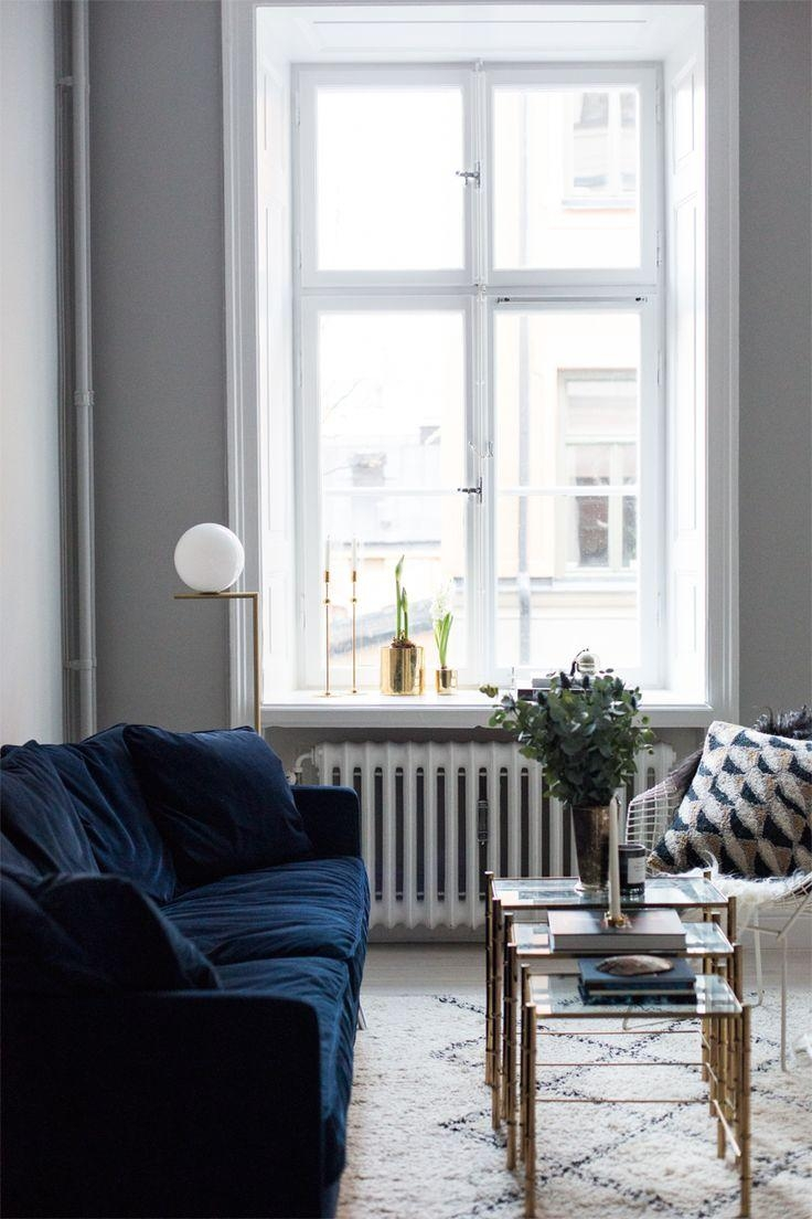 Best 25+ Navy Blue Sofa Ideas On Pinterest | Navy Blue Couches With Regard To Living Room With Blue Sofas (Image 9 of 20)