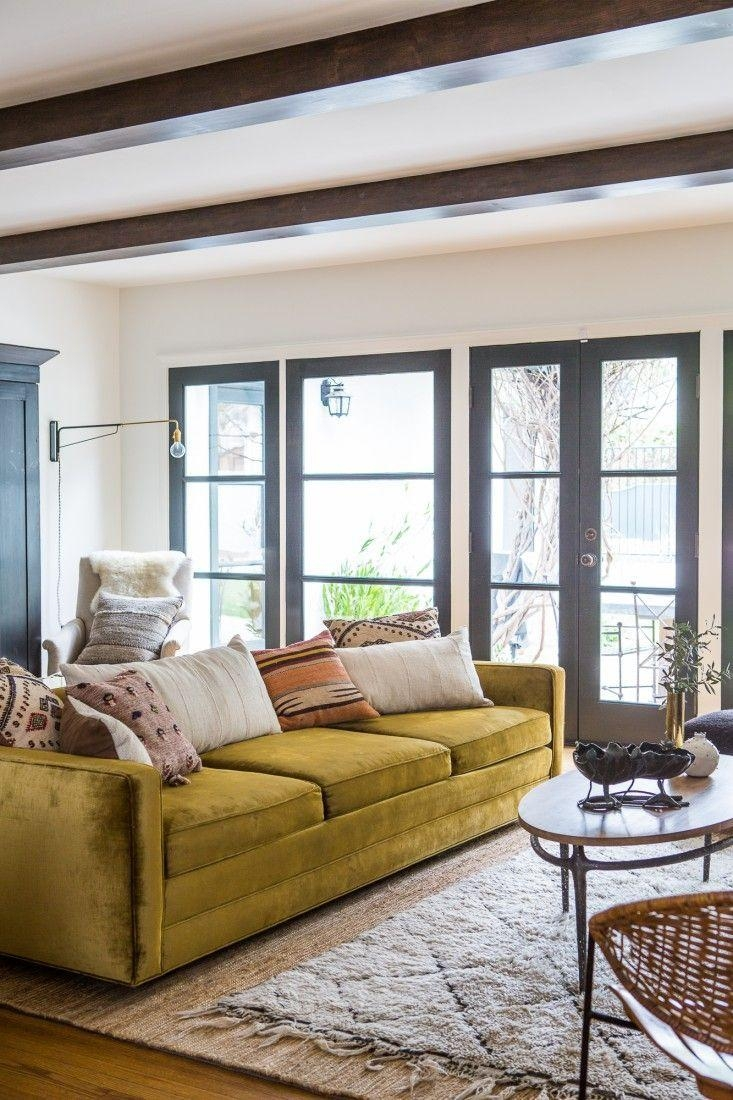 Best 25+ Olive Green Couches Ideas On Pinterest | Dark Blue Walls within Chartreuse Sofas
