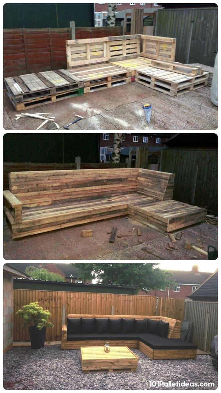 Best 25+ Pallet Sofa Ideas On Pinterest | Palette Furniture, Wood Within Pallet Sofas (View 17 of 20)