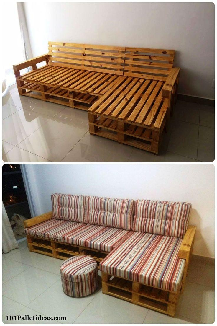 Best 25+ Pallet Sofa Ideas On Pinterest | Palette Furniture, Wood Within Pallet Sofas (Image 12 of 20)