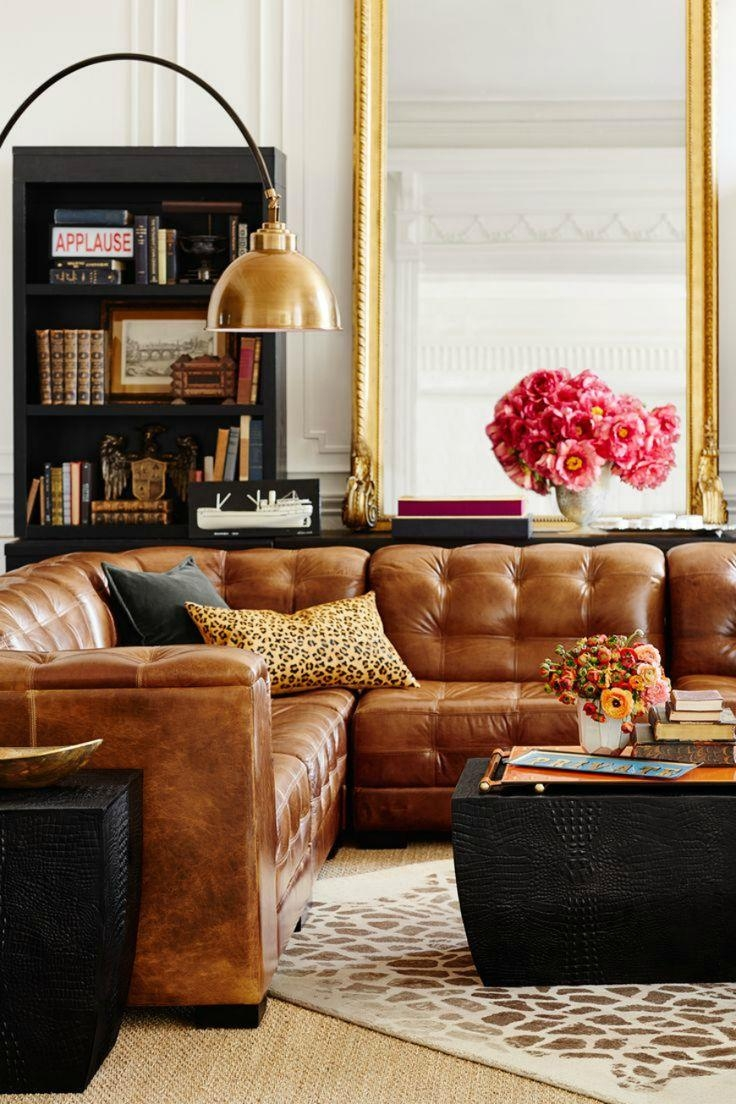 Best 25+ Pottery Barn Leather Sofa Ideas On Pinterest | Brown With Regard To Caramel Leather Sofas (Image 3 of 20)