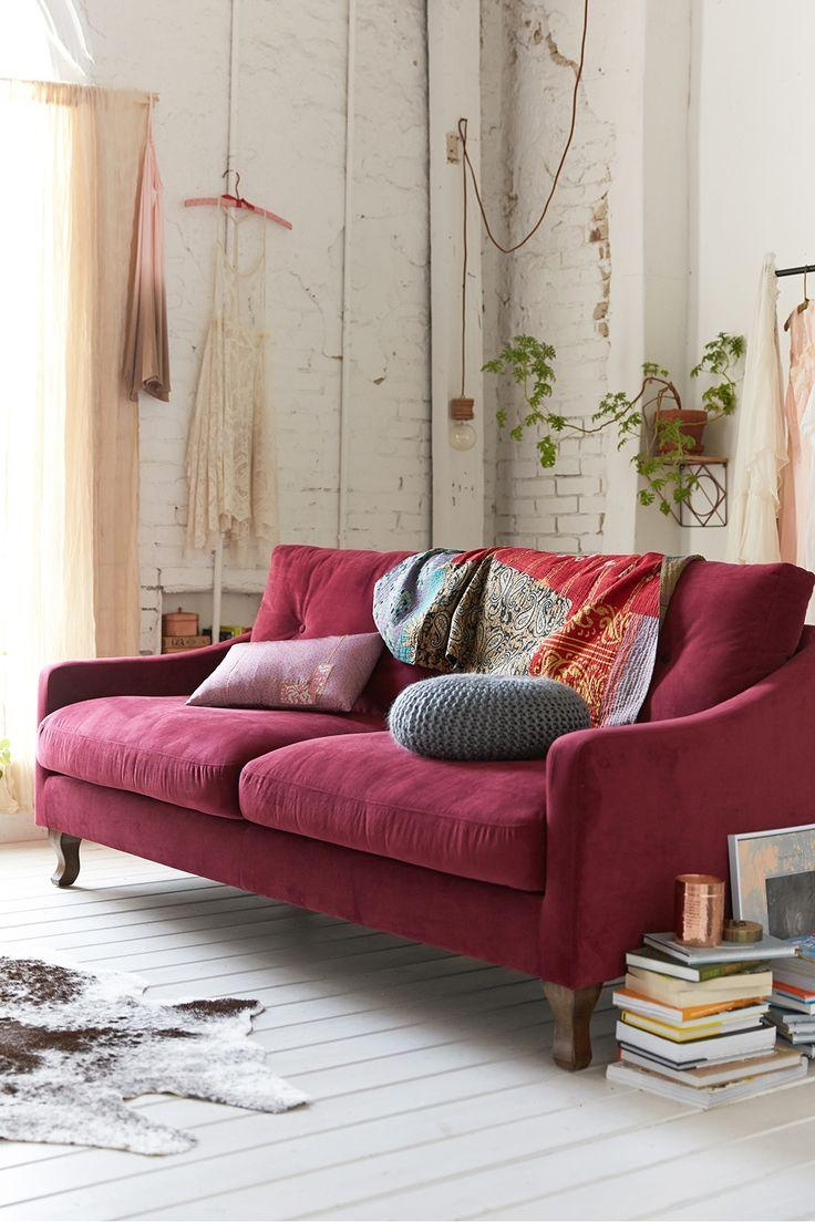 Best 25+ Purple Sofa Ideas On Pinterest | Purple Sofa Inspiration With Colorful Sofas And Chairs (View 13 of 20)