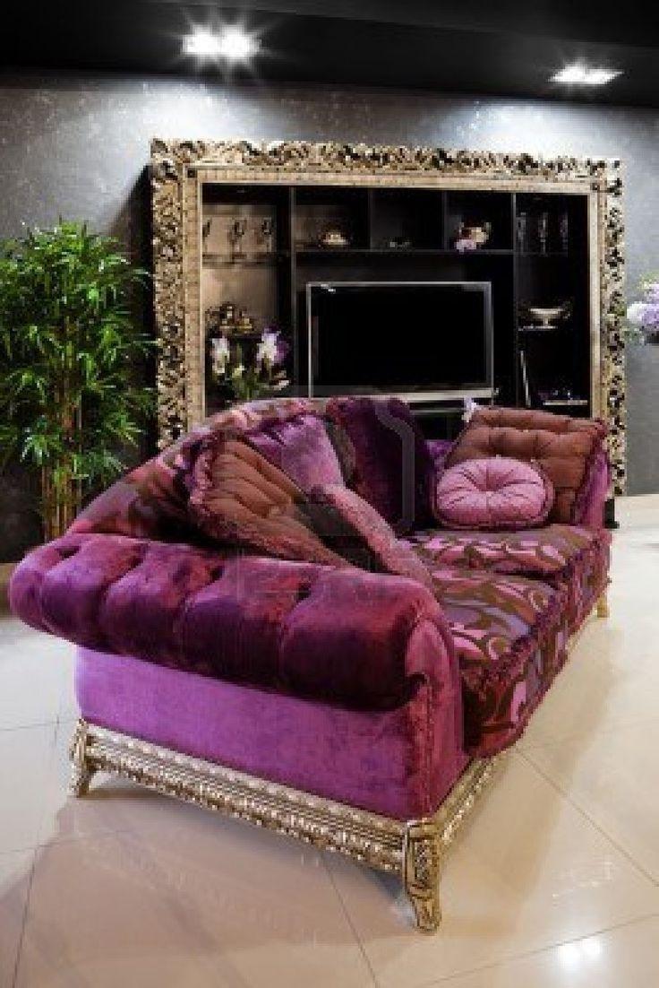 Best 25+ Purple Sofa Ideas On Pinterest | Purple Sofa Inspiration With Velvet Purple Sofas (View 18 of 20)