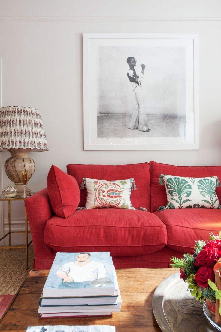 3 Home Decor Trends For Spring Brittany Stager: 20+ Choices Of Red Sofa Chairs