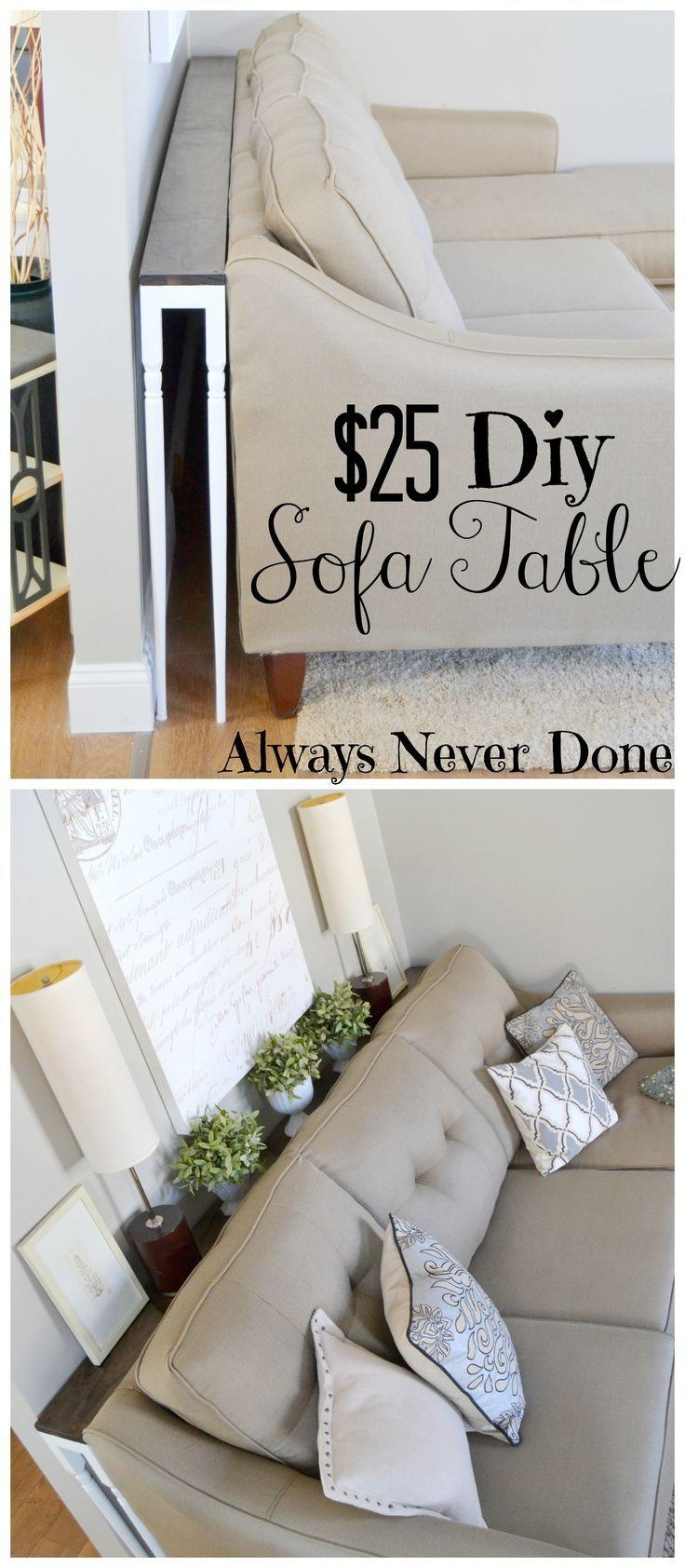 Best 25+ Sofa Side Table Ideas That You Will Like On Pinterest Inside Sofa Drink Tables (Image 4 of 20)