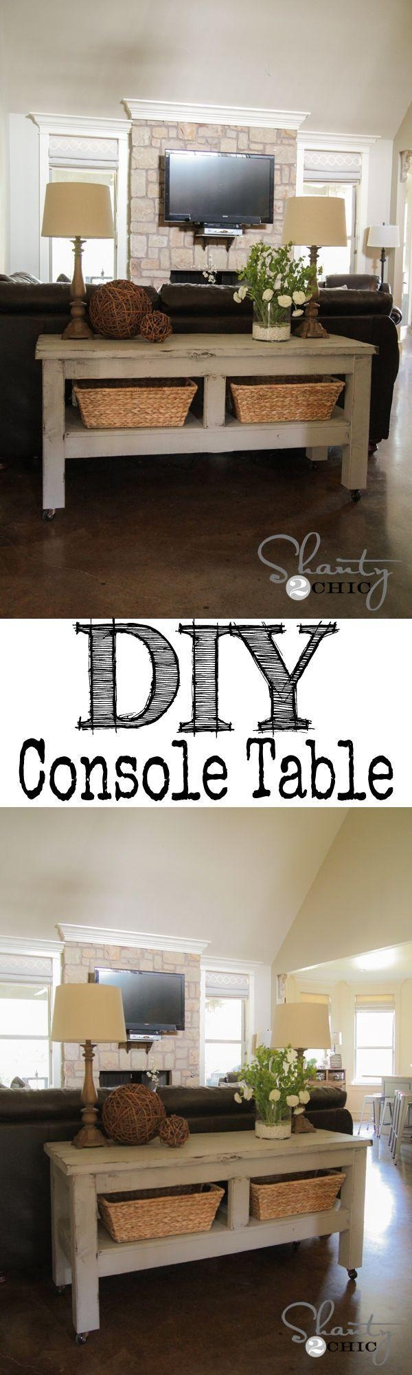 Best 25+ Table Behind Couch Ideas On Pinterest | Behind Sofa Table For Sofa Back Console (Image 6 of 20)