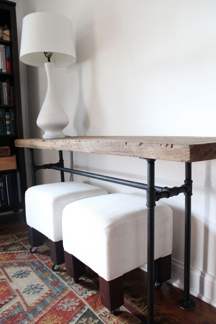 Best 25+ Table Behind Couch Ideas On Pinterest | Behind Sofa Table In Slim Sofa Tables (Image 3 of 20)