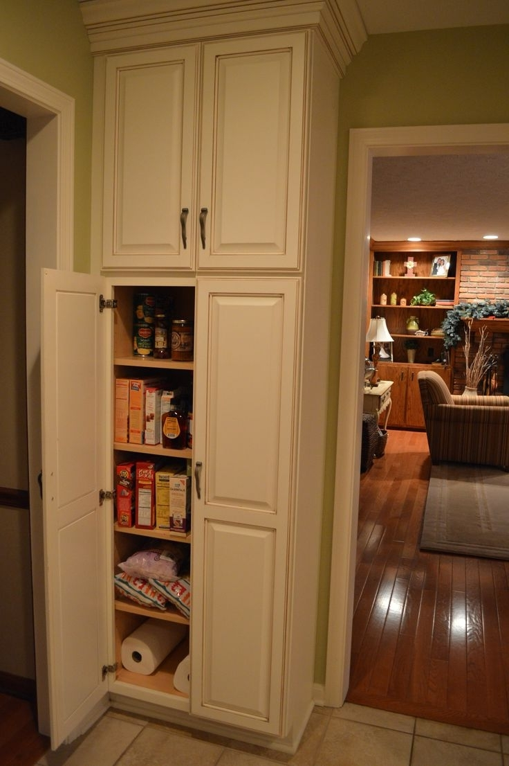 Best 25+ Tall Pantry Cabinet Ideas On Pinterest | White Glazed Pertaining To Pantry Cabinets To Utilize Your Kitchen (View 2 of 17)