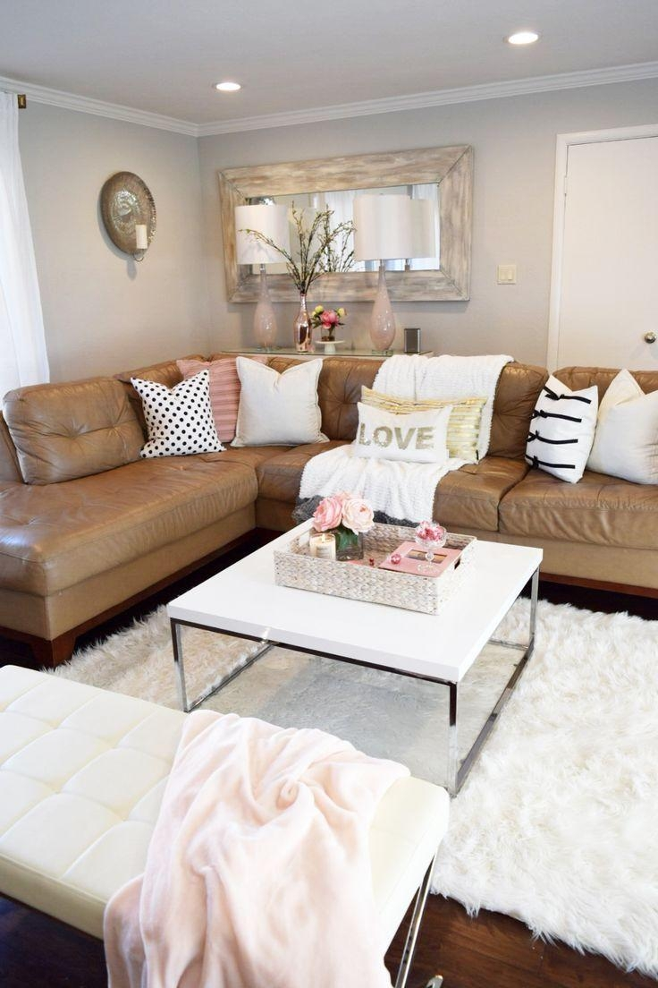 Best 25+ Tan Couch Decor Ideas That You Will Like On Pinterest Regarding Living Room With Brown Sofas (Image 6 of 20)