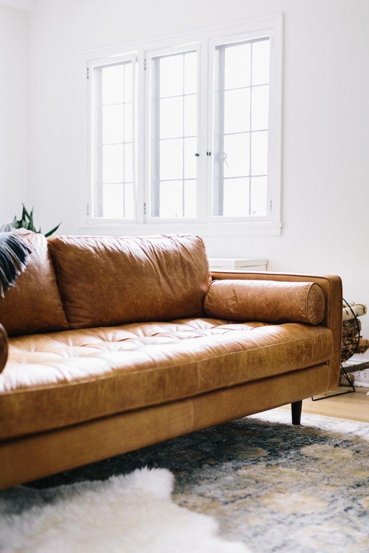 Best 25+ Tan Sofa Ideas On Pinterest | Tan Couch Decor, Leather Regarding Camel Colored Leather Sofas (View 6 of 20)