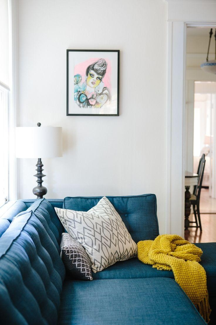 Best 25+ Teal Sofa Ideas On Pinterest | Teal Sofa Inspiration Regarding Dark Blue Sofas (Image 5 of 20)