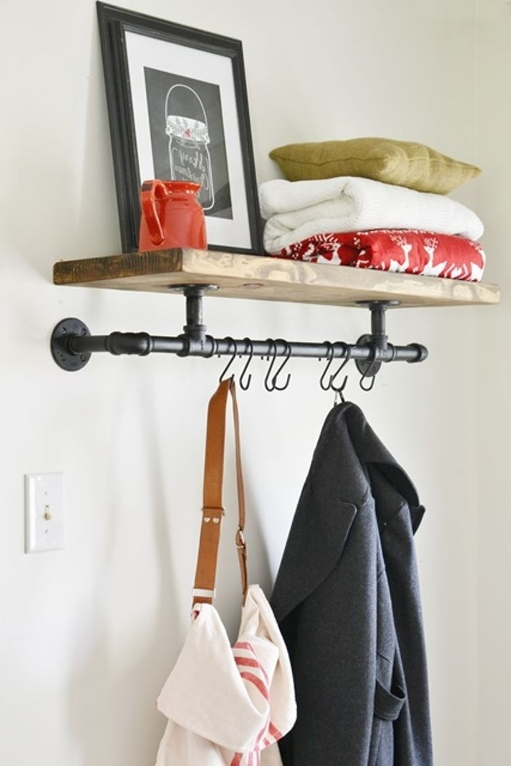 Best 25+ Wall Coat Rack Ideas On Pinterest | Diy Coat Hooks, Kids Throughout Coat Racks For Your Entryway (Image 5 of 8)