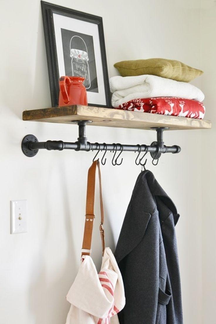 Best 25+ Wall Coat Rack Ideas On Pinterest | Diy Coat Hooks, Kids Throughout Coat Racks For Your Entryway (View 7 of 8)