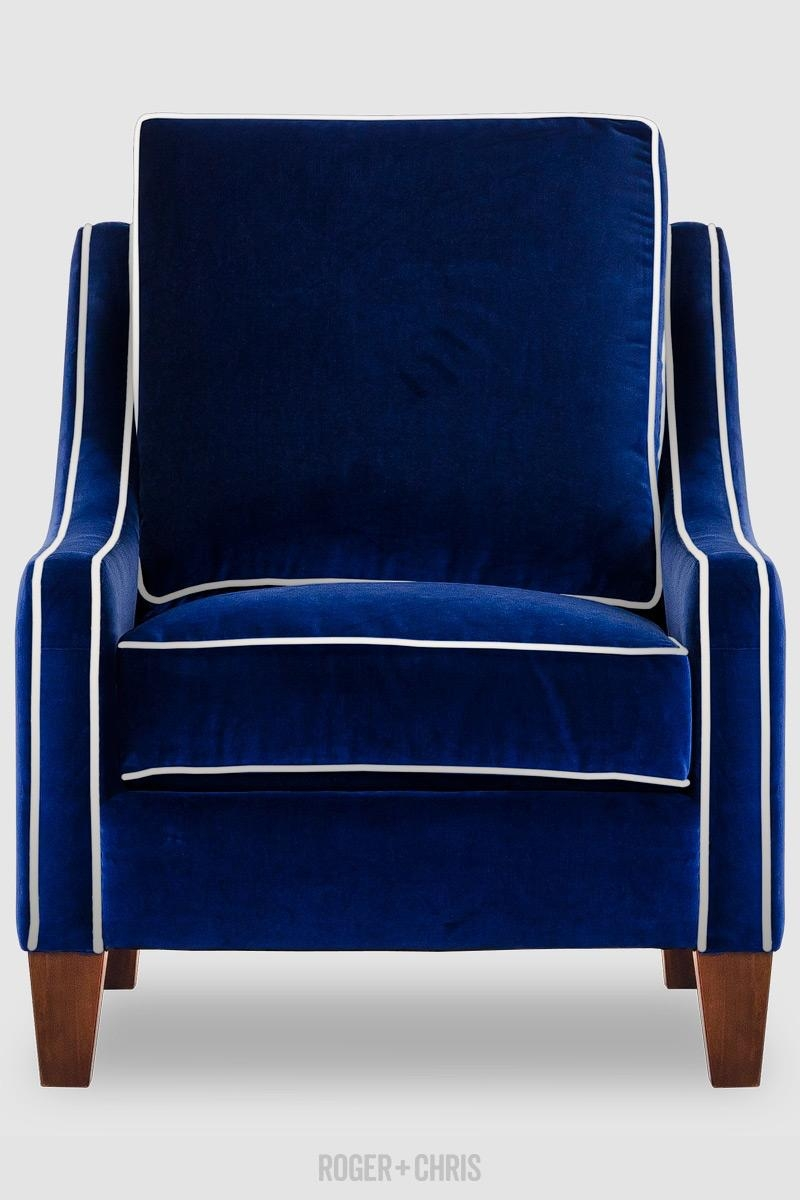 Best Blue Velvet Sofas | Blog | Roger + Chris Throughout Blue Sofa Chairs (Image 5 of 20)