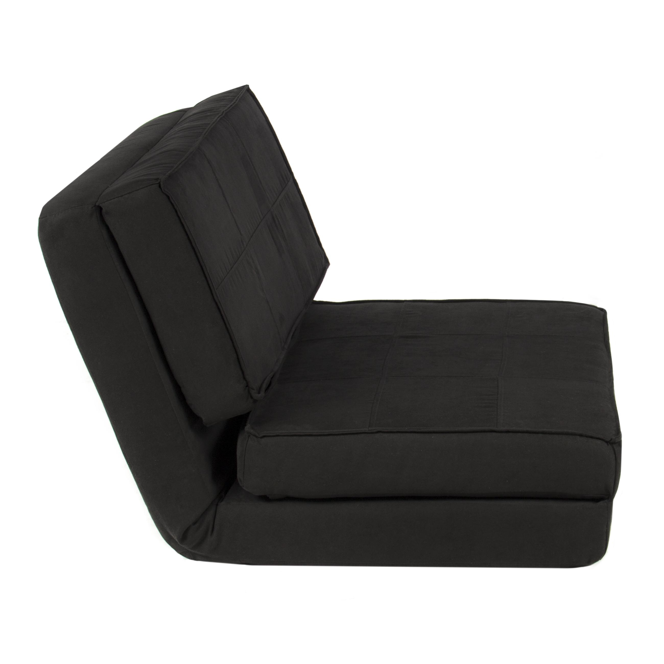 Best Choice Products Convertible Sleeper Chair Bed (Black In Fold Up Sofa Chairs (Image 5 of 22)