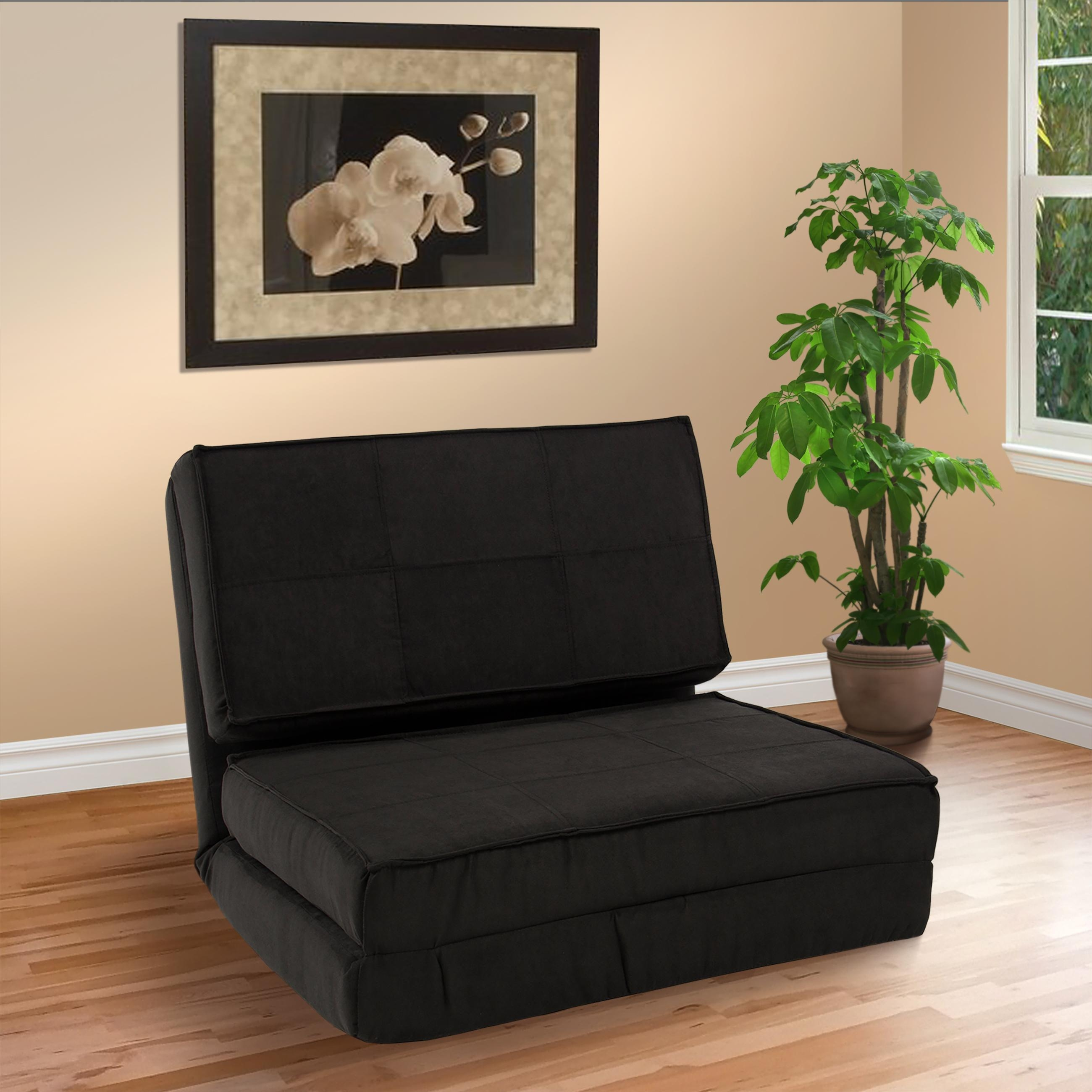 Best Choice Products Convertible Sleeper Chair Bed (Black Inside Fold Up Sofa Chairs (Image 7 of 22)