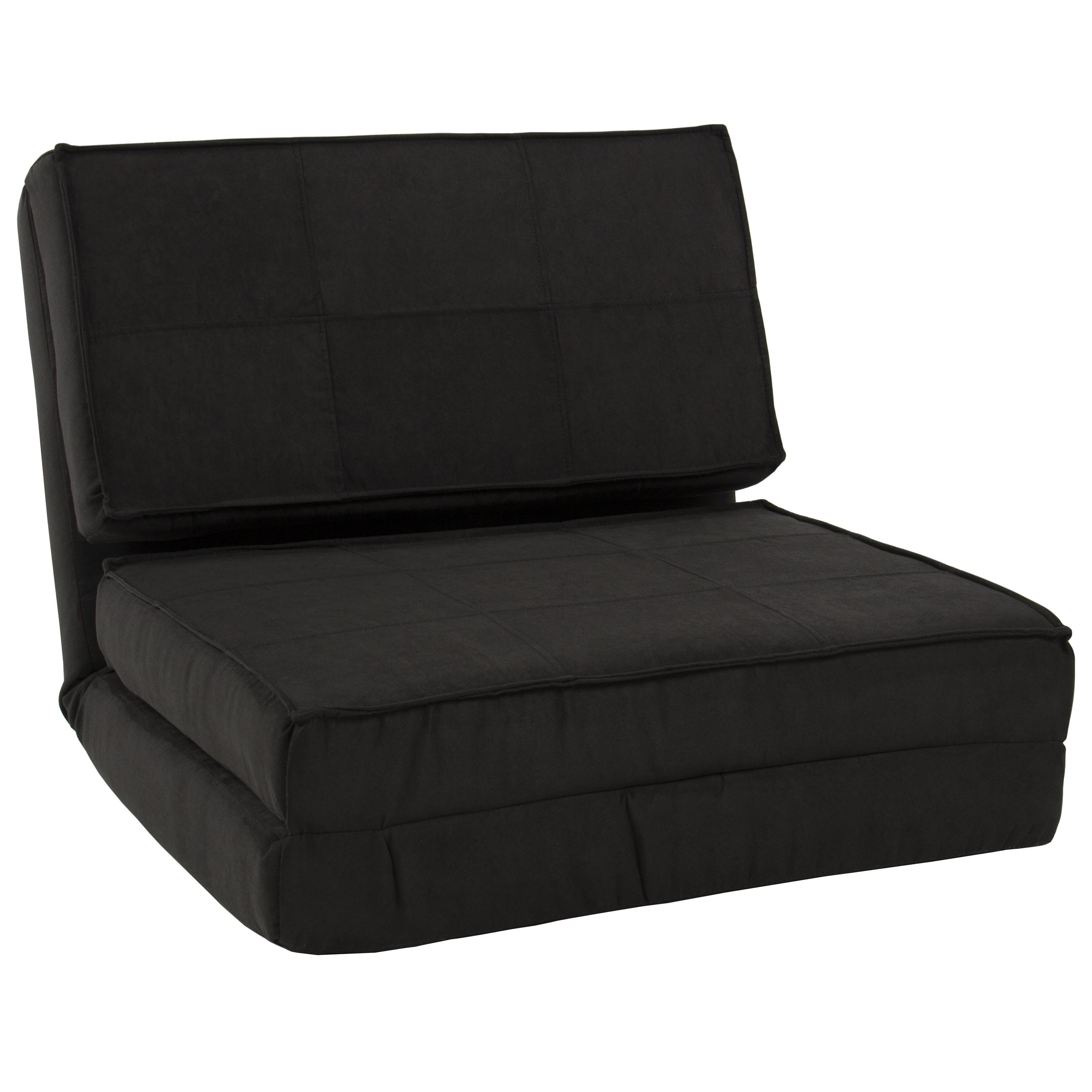 Best Choice Products Convertible Sleeper Chair Bed (Black Within Collapsible Sofas (Image 4 of 20)