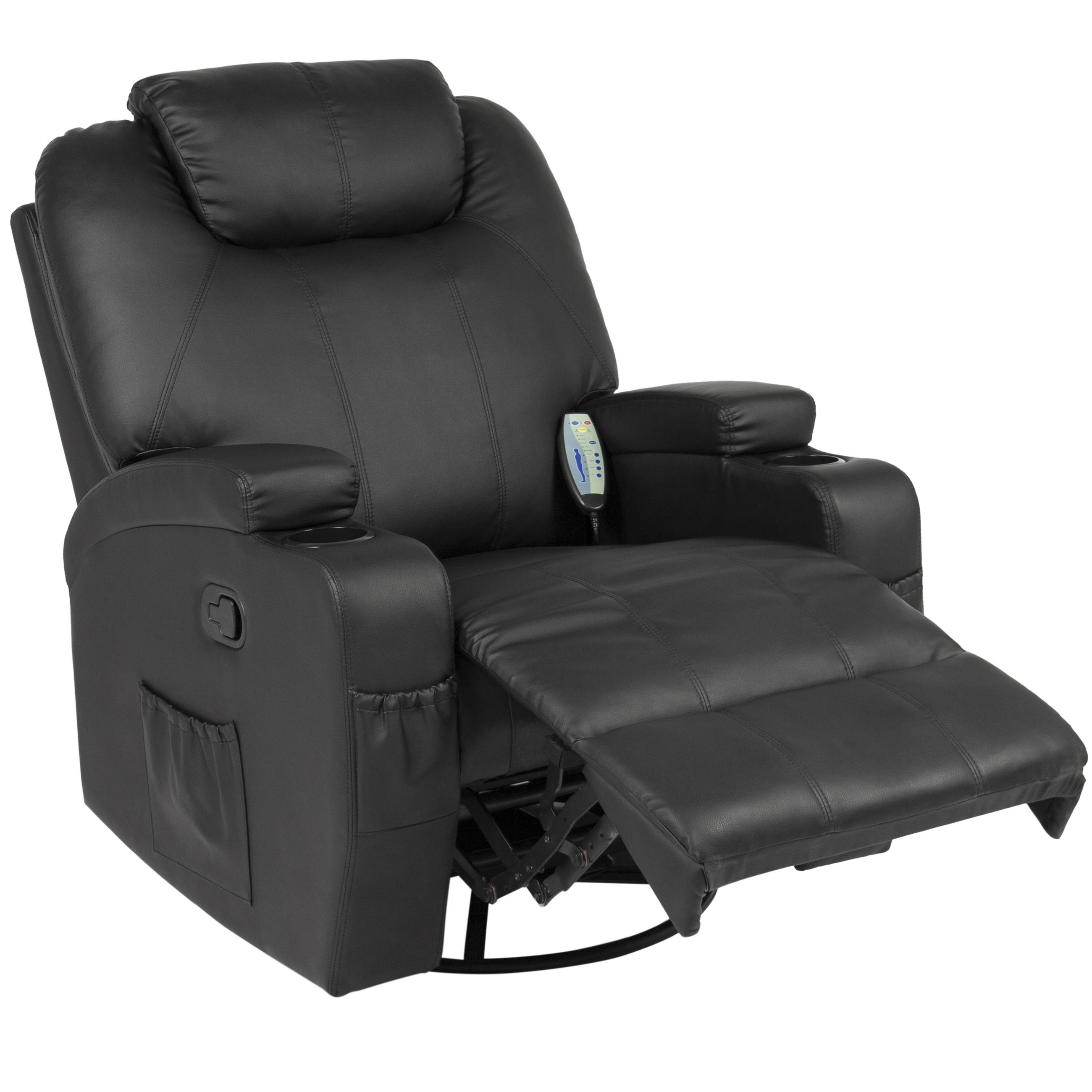 Best Choice Products Executive Swivel Massage Recliner W/ Control Intended For Recliner Sofa Chairs (Image 3 of 20)