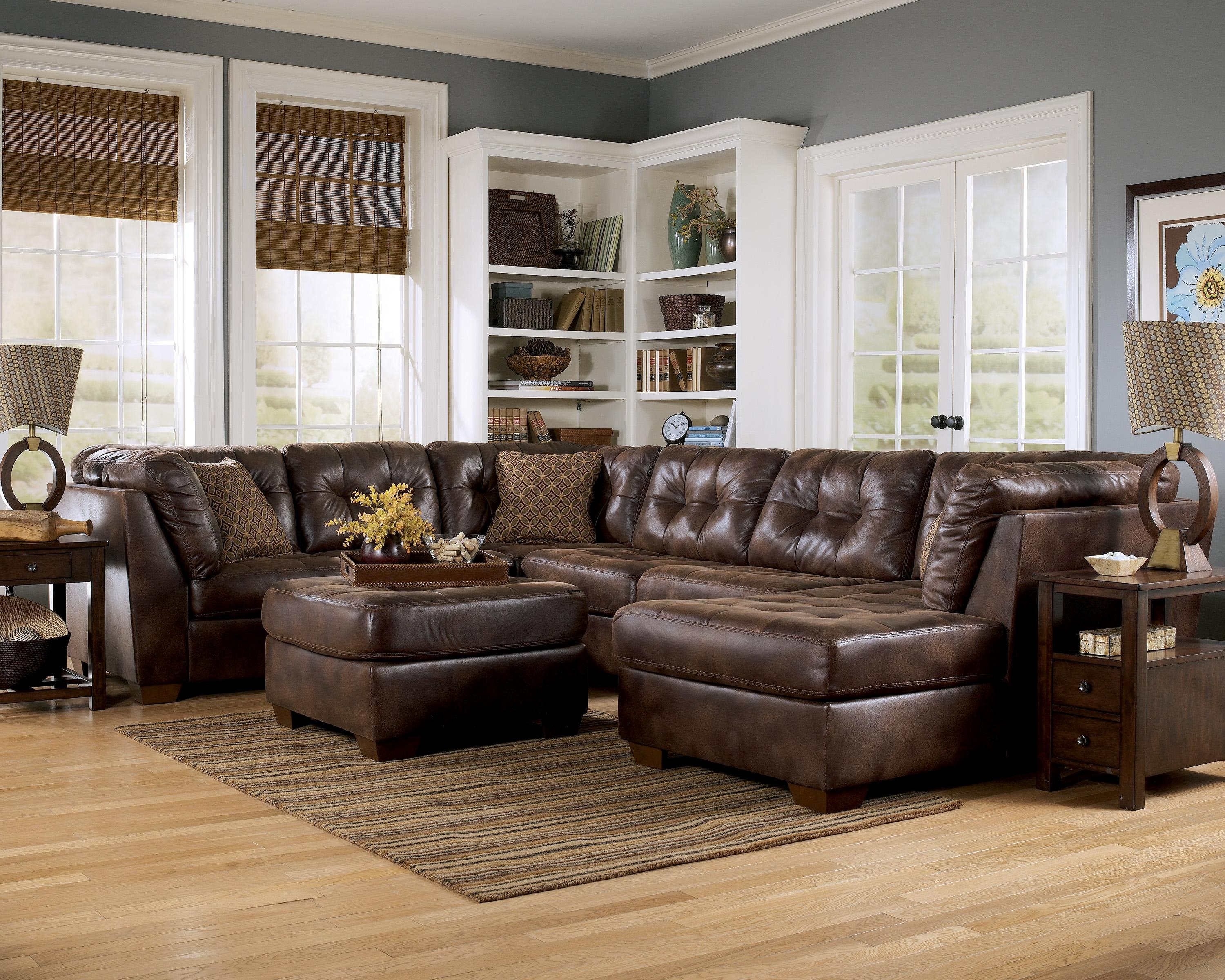 Best Faux Leather Sectional Sofa Ashley 19 For Your Media Sofa Pertaining To Media Sofa Sectionals (Image 2 of 20)
