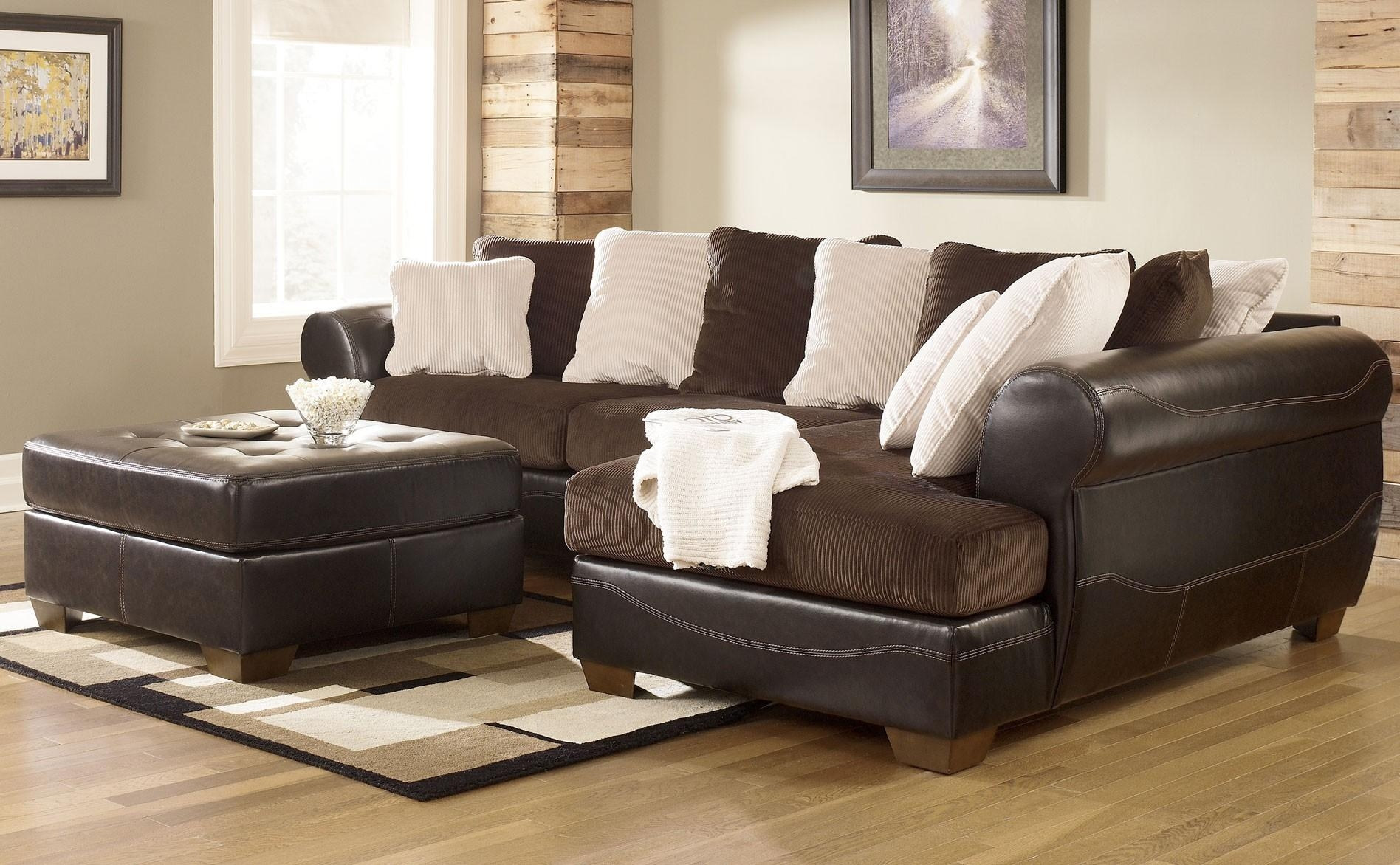 Best Faux Leather Sectional Sofa Ashley 19 For Your Media Sofa Throughout Media Sofa Sectionals (Image 3 of 20)