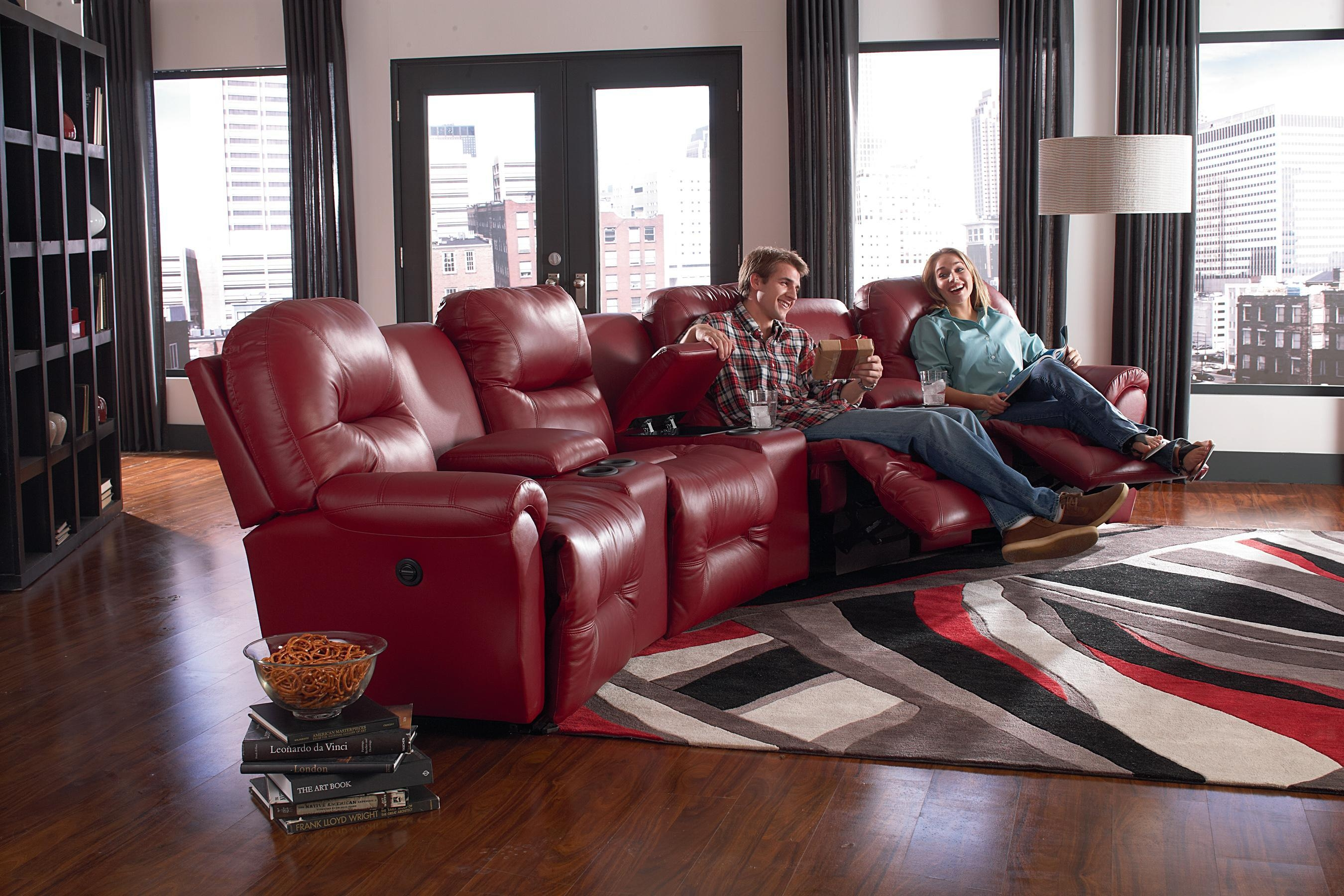 Best Home Furnishings Bodie Six Piece Reclining Sectional Sofa Throughout Theatre Sectional Sofas (Image 3 of 20)