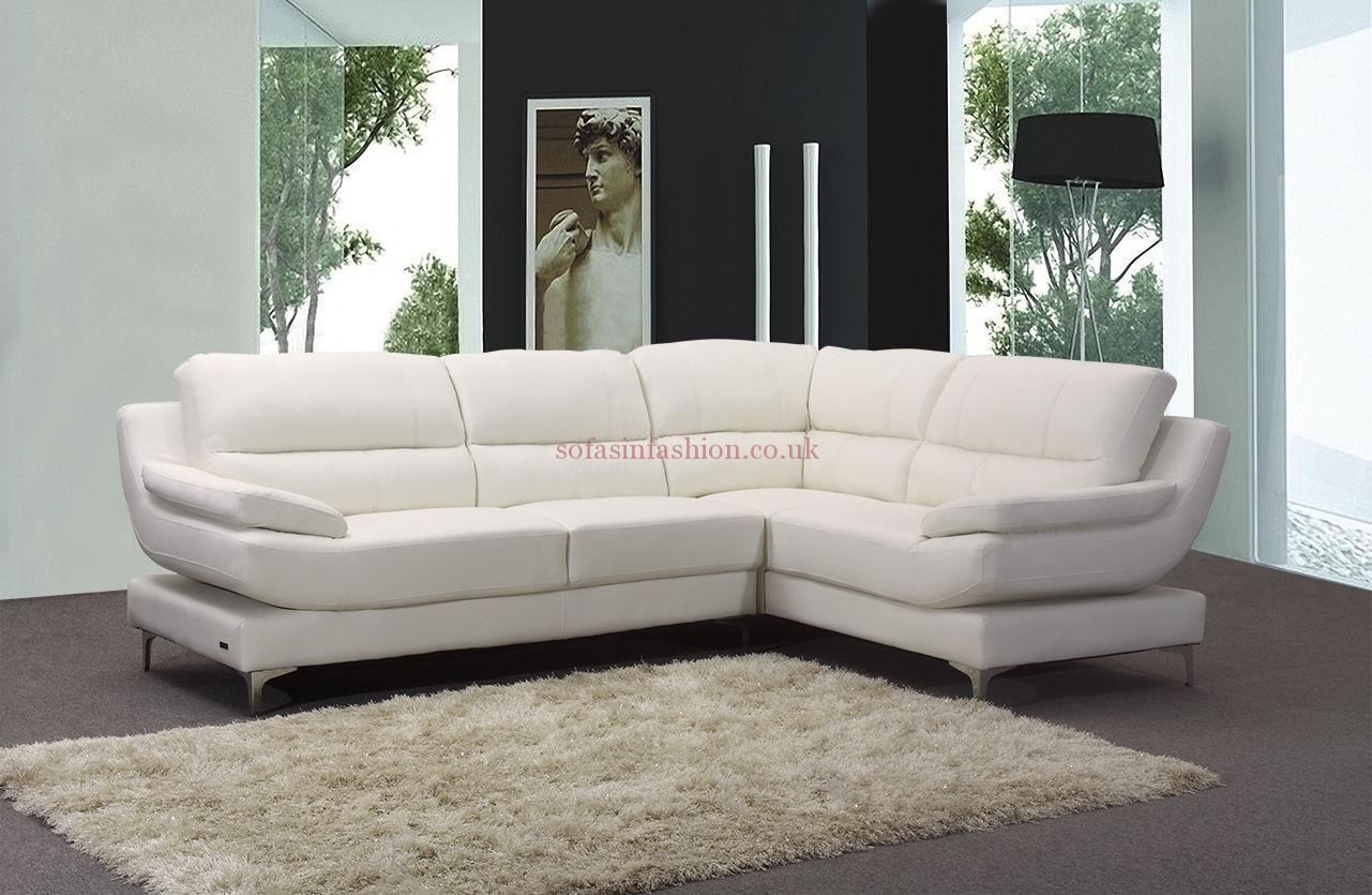 Best Leather Corner Sofas With Leather Corner Sofa Black White For White Leather Corner Sofa (Image 1 of 20)